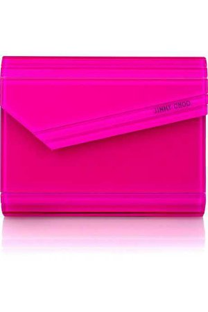 Jimmy Choo Neon-Pink Clutch