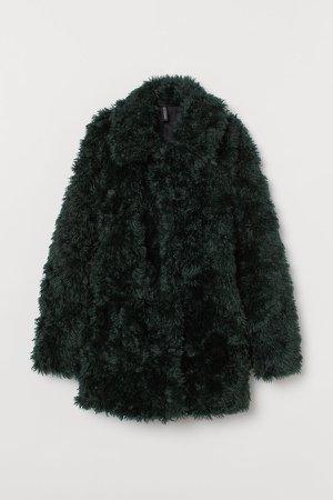 Faux Fur Jacket - Green