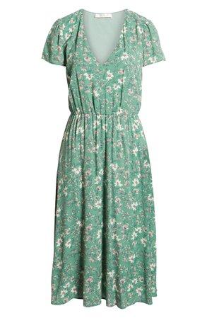 WAYF Blouson Midi Dress (Regular & Plus Size)   Nordstrom