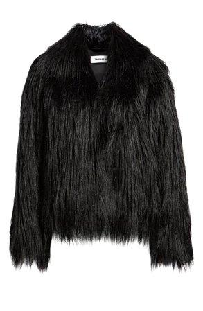Zadig & Voltaire Fridas Faux Fur Coat   Nordstrom