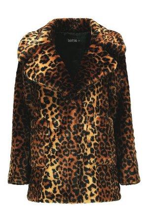 Leopard Faux Fur Coat | Boohoo