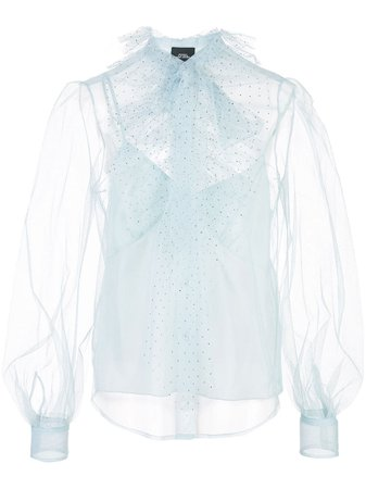 Marc Jacobs Sheer Pussybow Blouse | Farfetch.com