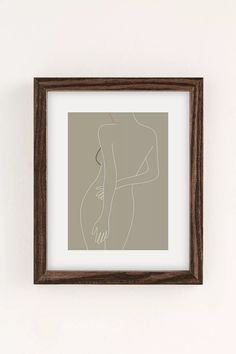 Nadja Minimal Line Art Woman Figure Art Print