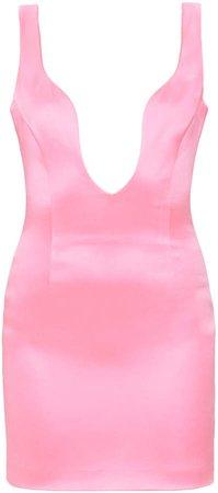 Mach & Mach Pink Satin Short Dress