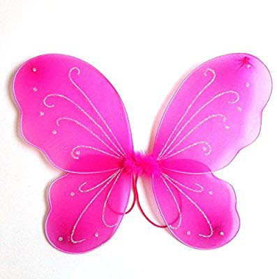 Amazon.com: Dushi Butterfly Craze Fairy Butterfly Wings Party Favor (hot pink) …: Toys & Games