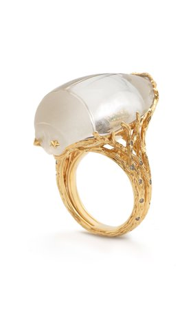 Bibi van der Velden Through the Looking Glass Scarab Ring