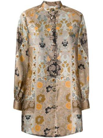 Etro Printed Blouson Coat - Farfetch