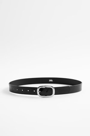 OVAL BUCKLE LEATHER BELT | ZARA United States