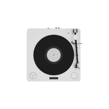 White Turntable Record-Player