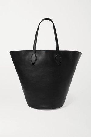 Black Circle medium leather tote | Khaite | NET-A-PORTER