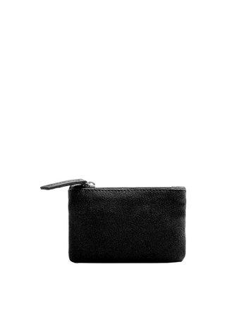 MANGO Zipped leather wallet