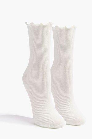 Lettuce-Edge Crew Socks