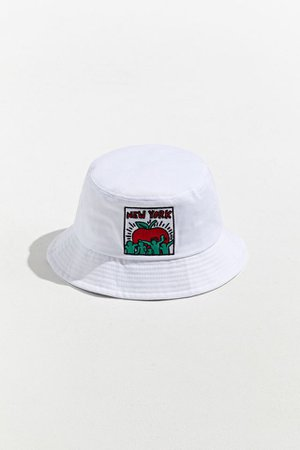 Keith Haring NY Bucket Hat | Urban Outfitters