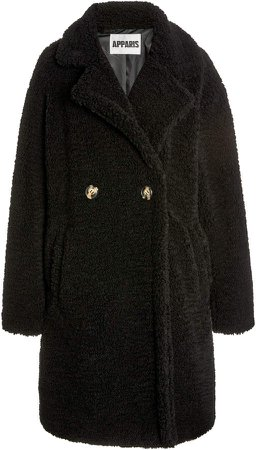 Apparis Anouck Double-Breasted Faux Shearling Coat