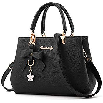 Amazon.com: Dreubea Womens Handbag Tote Shoulder Purse Leather Crossbody Bag Black: Shoes