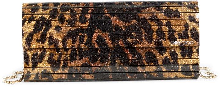 Sweetie Cheetah Glitter Acrylic Clutch