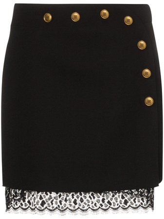 Givenchy button-embellished A-line Mini Skirt - Farfetch