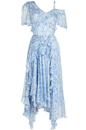 Gwen Printed Silk Chiffon Dress Gr. XS