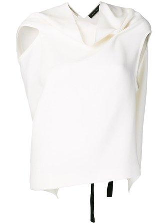 Roland Mouret, cowl neck blouse