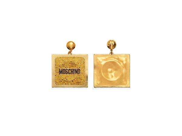 moschino condom earrings