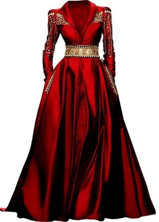 Red & Gold Gown