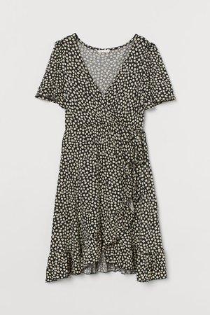 MAMA Jersey Wrap Dress - Black