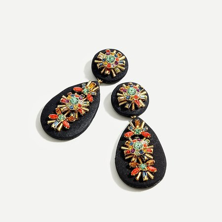 J.Crew: Embellished Statement Drop Earrings For Women