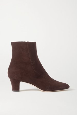 Myconia Suede Ankle Boots - Brown