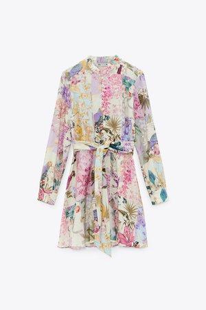 FLORAL PRINT DRESS | ZARA South Korea