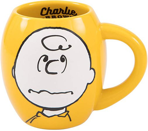 Vandor Peanuts Charlie Brown 18-Ounce Oval Ceramic Mug (85461): Amazon.ca: Home & Kitchen