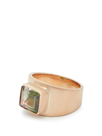 18kt brushed rose-gold & tourmaline ring | Irene Neuwirth | MATCHESFASHION.COM