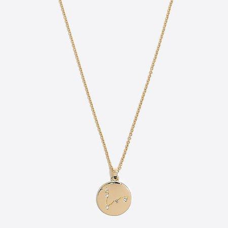 J Crew Factory Zodiac Pendant Necklace