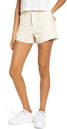 The Barrow High Waist Cutoff Denim Shorts