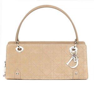 33302 auth CHRISTIAN DIOR beige suede leather Shoulder Bag   eBay