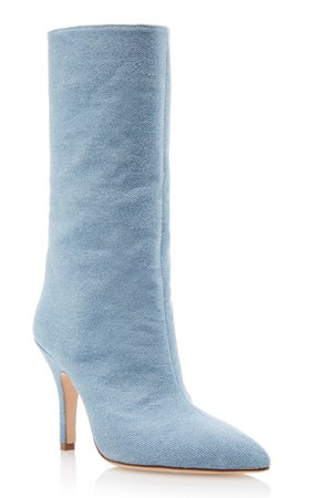 Denim Mid-Height Boots by Paris Texas | Moda Operandi