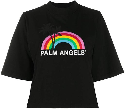logo rainbow print T-shirt