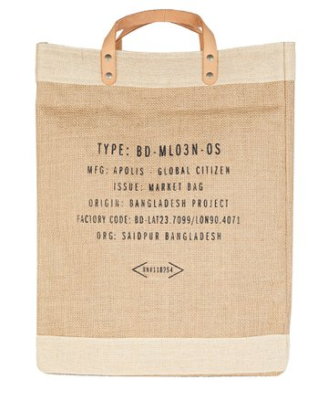 Apolis Market Jute Tote Bag   INTERMIX®
