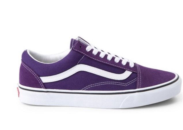purple old skool vans