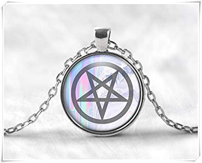 """""""A Little Love"""" Pastel Goth Inverted Pentacle Necklace"""