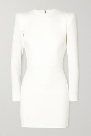 White Kira stretch-cady mini dress   Alex Perry   NET-A-PORTER