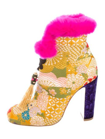 Christian Louboutin 2017 May Wong Brocade Ankle Boots w/ Tags - Shoes - CHT112371 | The RealReal