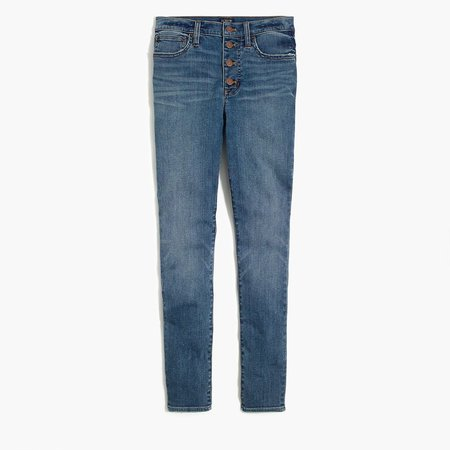 "9"" High-Rise Skinny Jean With Button Fly In Authentic Blue Wash"