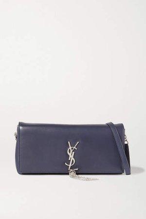 Kate Leather Shoulder Bag - Navy