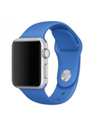Apple Watch with dark blue wrist band
