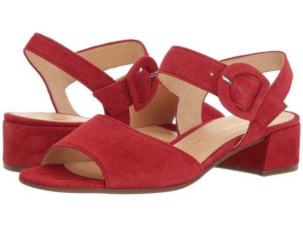Gabor - Gabor 81.742 (Red Samtchevreau) Women's Dress Sandals
