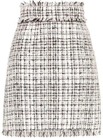 Dolce & Gabbana tweed straight-fit skirt