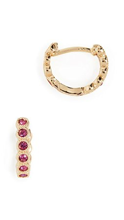 Gorjana Madison Shimmer Huggie Earrings | SHOPBOP