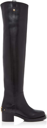 Valentino Over-The-Knee Leather Boots