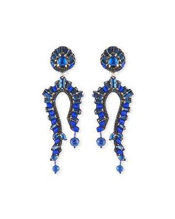 ranjana khan statement earrings black teardrop