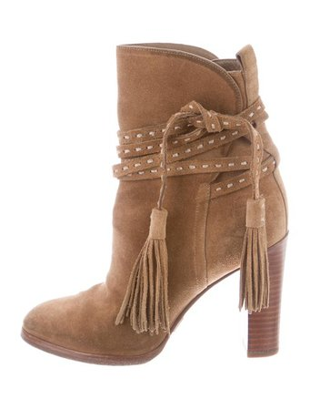 Michael Kors Suede Pointed-Toe Ankle Boots - Shoes - MIC82588 | The RealReal